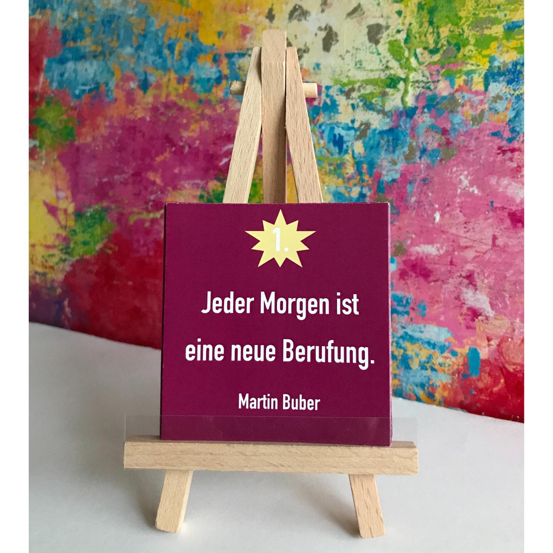 """Adventskalender Kunstpuzzle mit inspirierenden Zitaten """"Der Garten"""""""