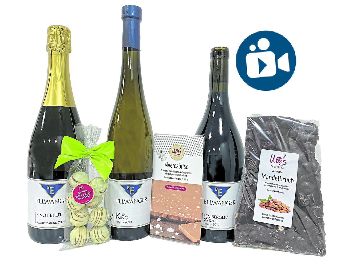 Wein- und Schokoladen-Tasting mit Video