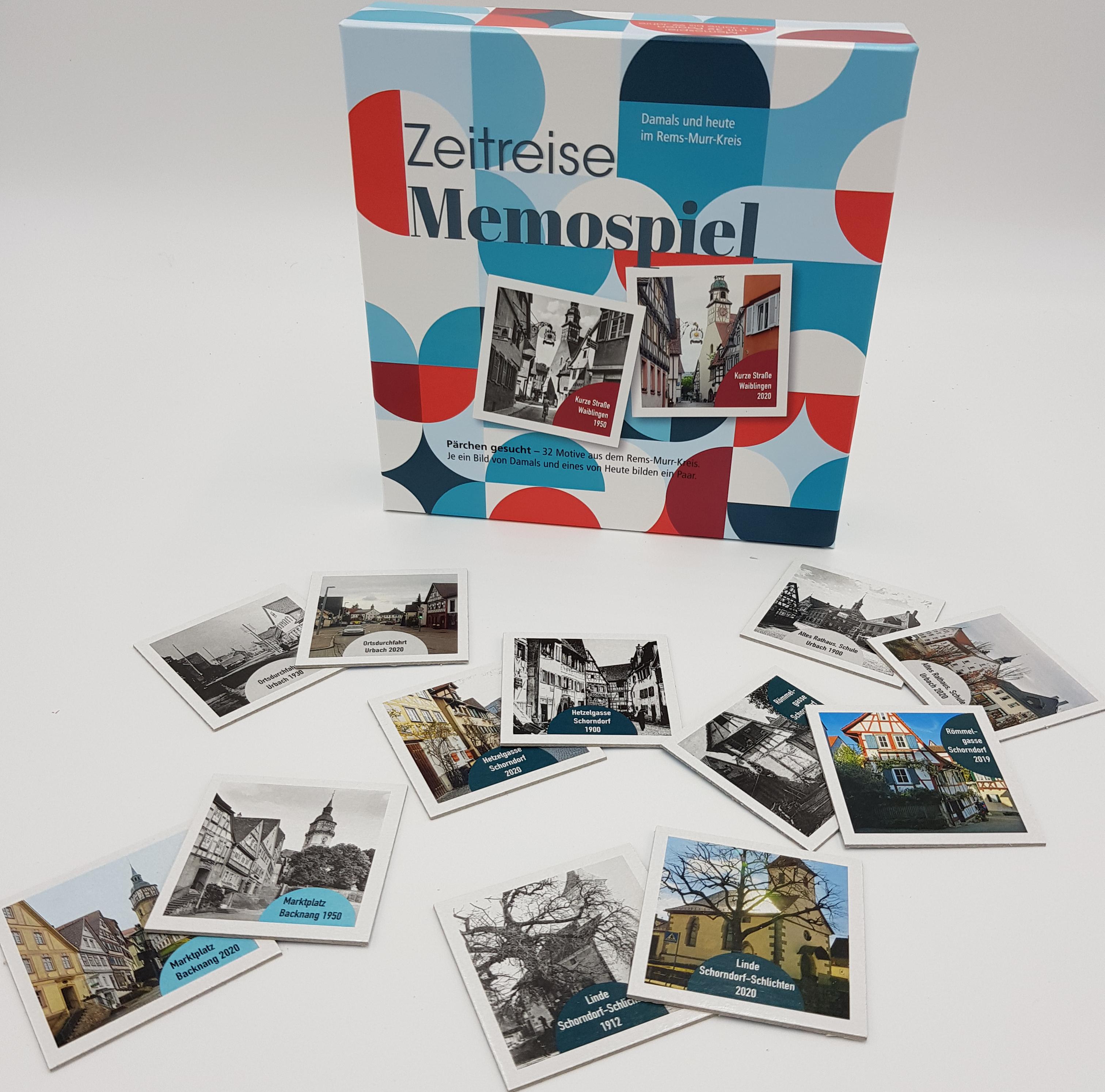 """Memospiel """"Damals und Heute"""""""