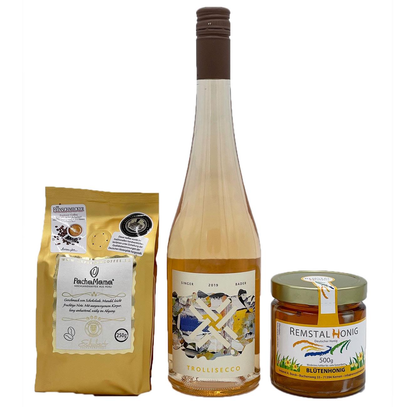 Weinkorb: Remstalpaket mit Trollisecco und Kaffee