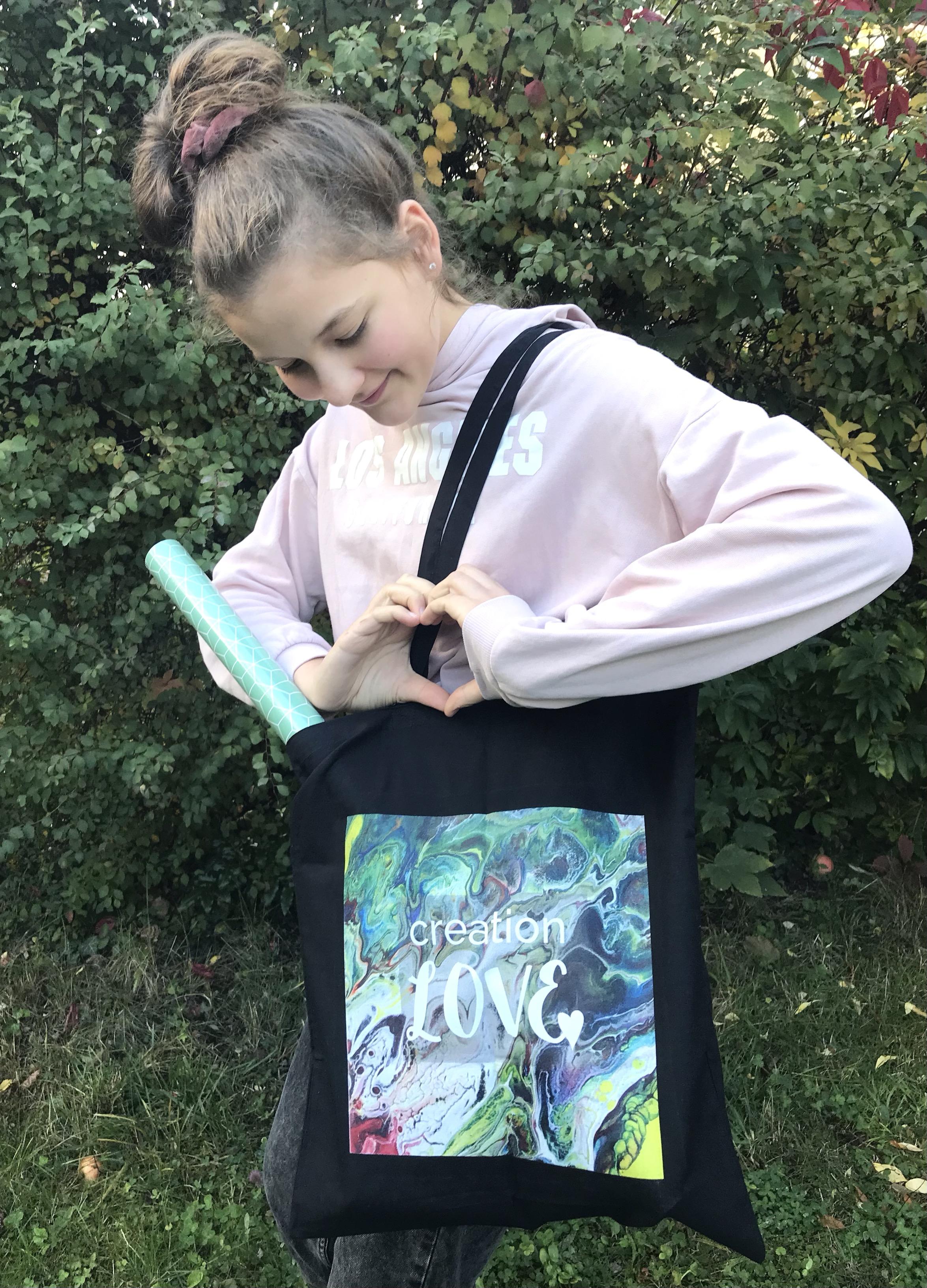 """Stofftasche Kunsttasche artbag """"creation LOVE"""""""