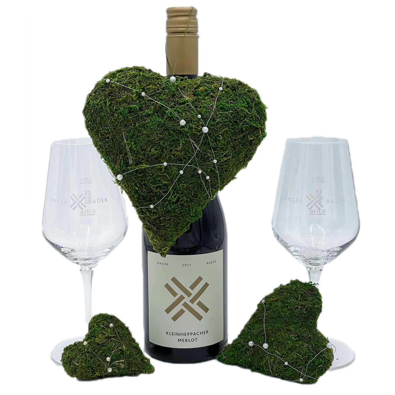 Weinkorb: Rendezvouz-Paket mit Gläsern