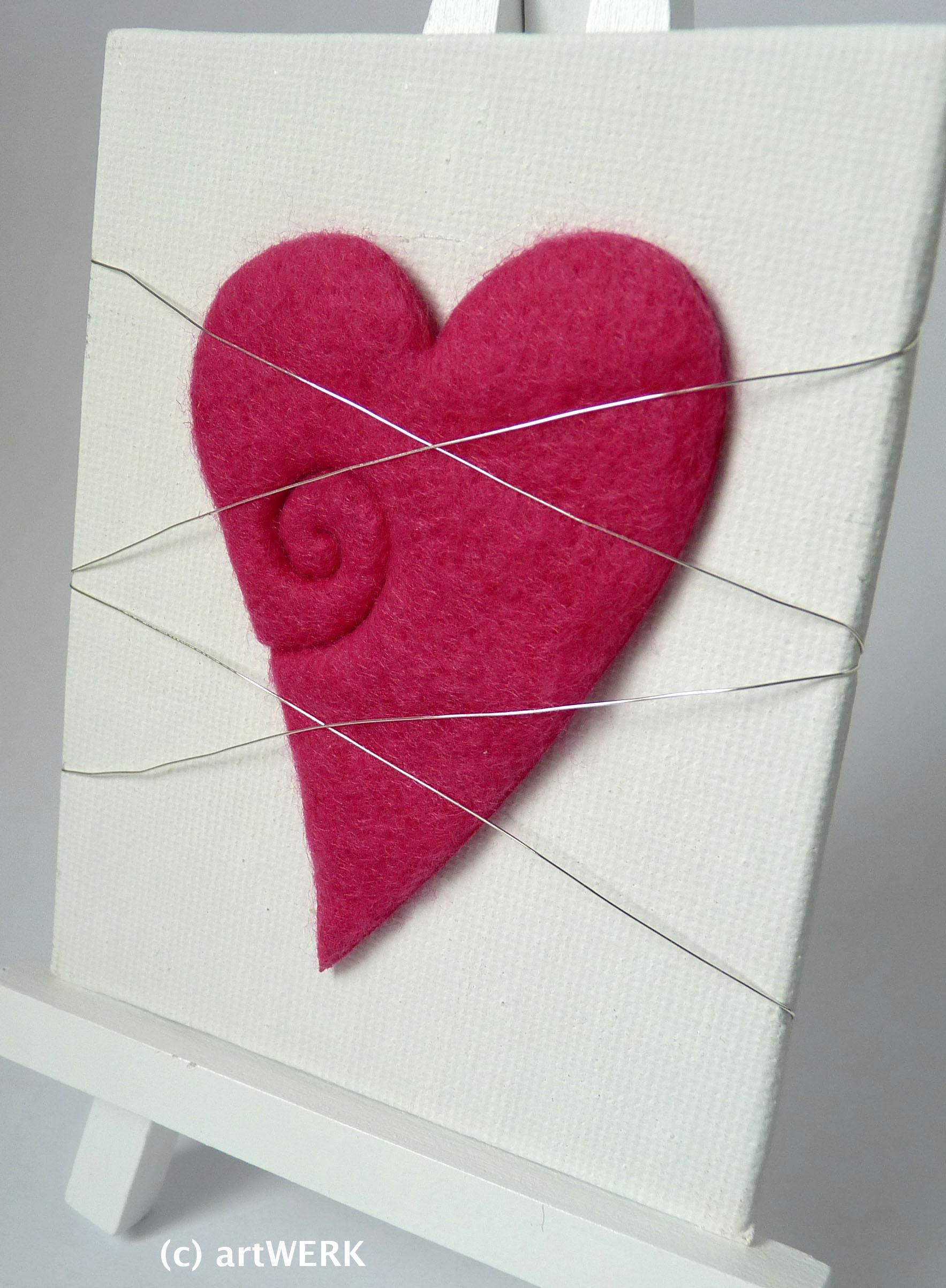"Mini-Tischstaffelei Geldgeschenk Deko ""pink"""